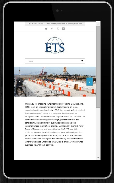 Engineering and Testing Services, Inc. website