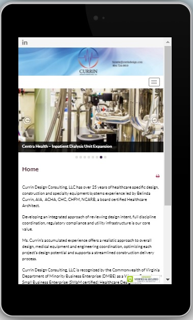Currin Design Consulting, LLC mobile website development